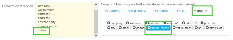 Añadir teléfono del cliente en facturas de PrestaShop