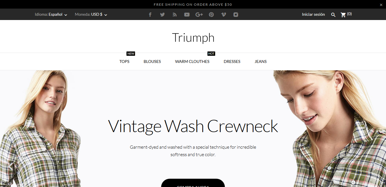Triumph Fashion Store - Plantillas Prestashop 1.7