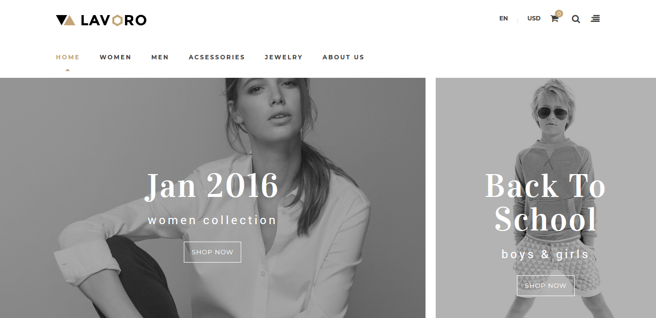 Lavoro - Fashion Shop Responsive Prestashop 1.7
