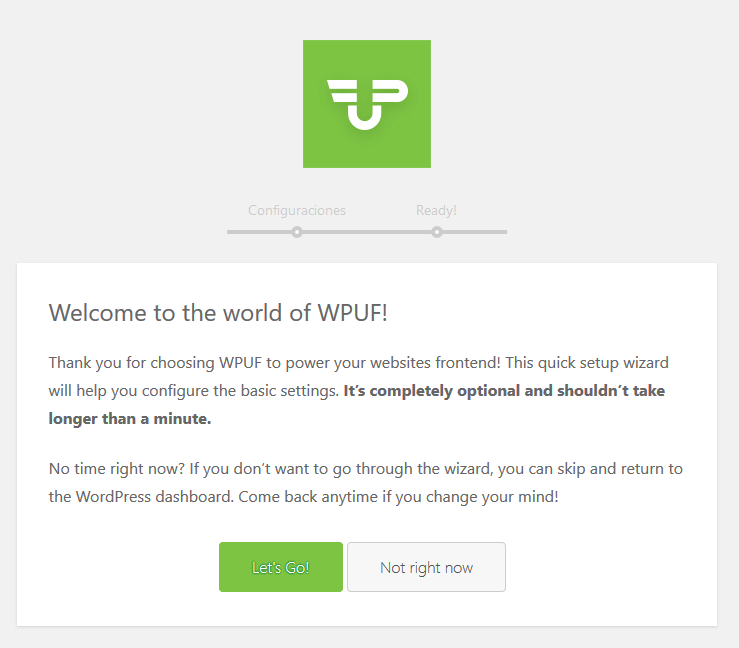 Configurar WordPress Front-End