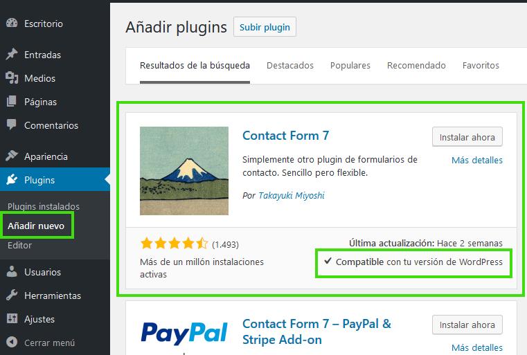 Como instalar y configurar Contact Form 7 de WordPress