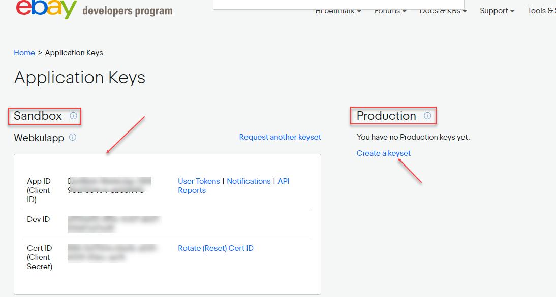 Obtener datos de API eBay