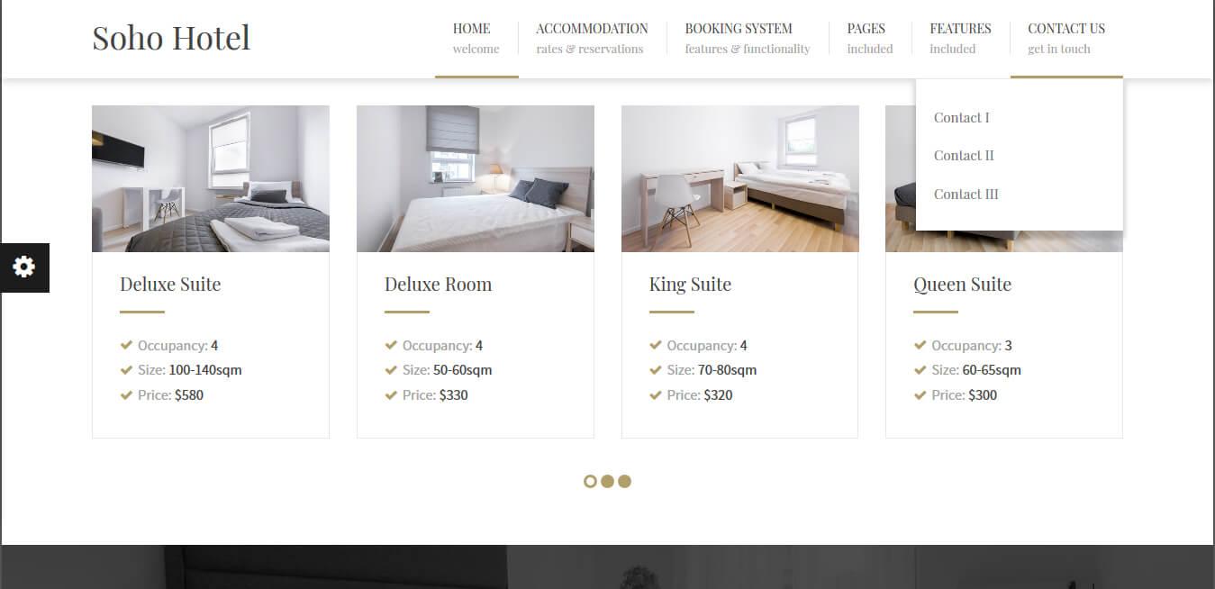 Soho Hotel - Responsive WP Theme