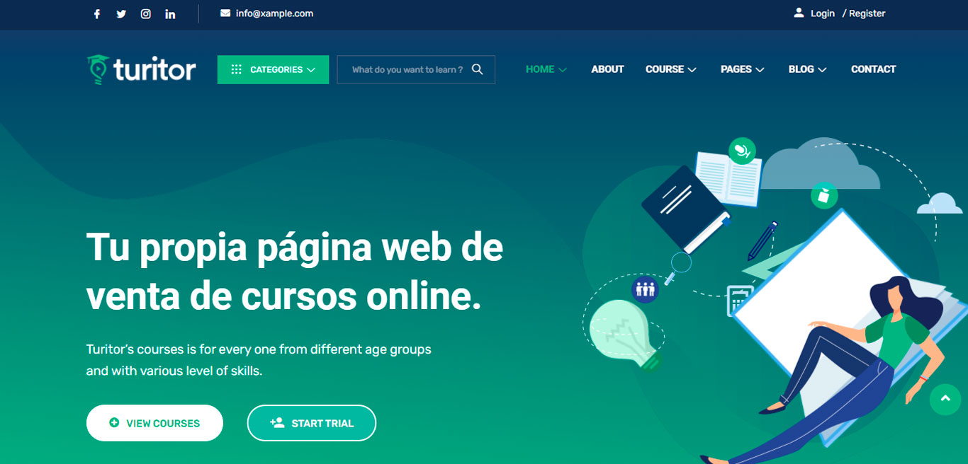 Academia Online como Domestika o Crehana